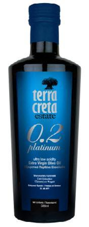 Terra Creta Gourmet 0,3 Platinum Ultra Low Acidity Olivenöl